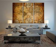 vintage world map canvas art prints rustic world map art canvas print vintage old
