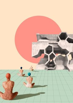 The future is ours. Lara Lars. Collage. Brutalism