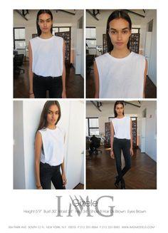 Gizele Oliviera || IMG Models New York F/W 2014 Polaroids/Digitals// DESERTPEACHES.COM
