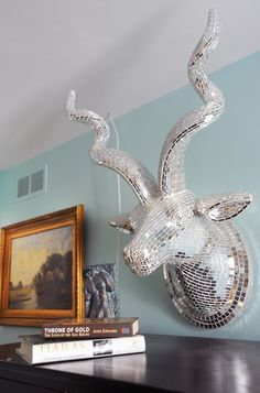This kudu wall decoration is way cooler than a deer or moose!