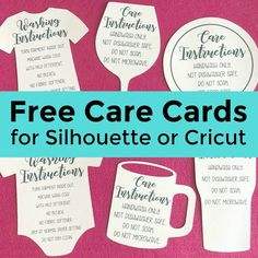 Free Shaped Printable Care Cards for Your Silhouette or Cricut Business Free Print and Cut or Print then Cut shaped care cards for Silhouette Cameo or Portrait or Cricut Explore or Maker small business owners. Silhouette Cameo Shirt, Silhouette Cameo Projects, Print And Cut Silhouette, Silhouette Portrait, Free Silhouette, Silhouette America, Silhouette Machine, Silhouette Files, Cricut Print And Cut