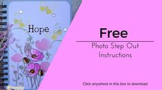 Our free downloadable instructions for Leah's Poppy Garden notebook.  #chameleonpens #alcoholmarkers #card ##instructions #stepbystep #free #download #craft #papercraft #crafting #blog #markers #colouring #coloring #colour #color #arts&crafts #artsandcrafts #art #crafts #pink #flowers #yellow #butterflies #string #bow #mixed #media
