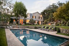 Producer Michael Jaffe and his wife, Jann, spent two years building this shingle-style home in Montecito, Calif., inspired by the work of architect Robert A.M. Stern and the architecture they saw spending summers in Maine. The couple paid $1.3795 million for the land and a 1950s-era house in 1989, according to public records. They say they later spent approximately $2 million on construction of their new home, pool and cabana.
