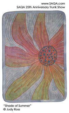 Art quilt by Judy Ross #artquilts #SAQA