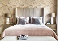 Feminine Wall Art with Fashionable Bedroom Design: Copper Wall Art Best Pillow Feminine Bedroom Decor Apartment Master Bedroom, Zeitgenössisches Apartment, Apartment Interior, Contemporary Apartment, Contemporary Bedroom, Modern Bedroom, Bedroom Decor, Modern Contemporary, Interior Design Portfolios
