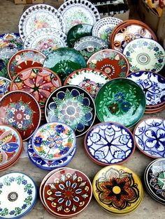 Beautiful!!! Spanish ceramic plates **from Valencia, Spain**