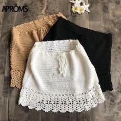 Elegant Handmade Cotton Crochet High Waist Bow Tie Beach Bikini Bottoms Mini Skirts Source by gels_boutique < Br > Cotton Crochet, Diy Crochet, Crochet Crafts, Crochet Bikini, Crochet Skirts, Crochet Clothes, Crochet Outfits, Crochet Skirt Outfit, Crochet Designs