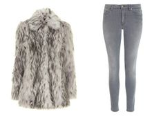 Dorothy Perkins Fur Coat and Acne Jeans: Lucky Magazine