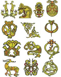 Viking era embroidery designs -