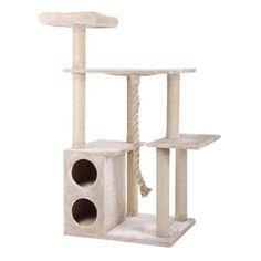Kratzbaum Maine Coon 1 Beige | Haustierliebe.shop Maine Coon, Indoor Trees, Cat Towers, Hamster, Beige, Pets, Star, Canela, Germany