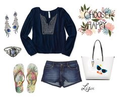 """""""Choose Happy"""" by coolmommy44 ❤ liked on Polyvore featuring Aéropostale, Karl Lagerfeld and Wing Ho"""