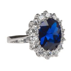 CRISLU Exquisitely Cut Cubic Zirconia Princess Diana Tribute Ring #VonMaur