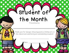 "Winning ""Student of the Month Award"" a couple of times in elementary school."