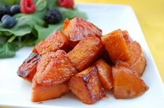 Spicy Sweet Potatoes.  What's not to like about sweet potatoes.. they are a great source of dietary fiber, complex carbohydrates, protein, vitamins A and C, iron and calcium.