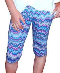 This Turquoise & Purple Zigzag Leggings - Toddler & Girls by Mi-Parti Designs is perfect! #zulilyfinds