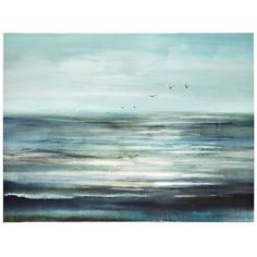 Flight Over Water Canvas Art Print ($100) ❤ liked on Polyvore featuring home, home decor, wall art, bird wall art, canvas wall art, stretched canvas and ocean home decor
