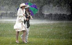 Hopes for a hot and sunny British summer have been hit after it rained heavily across the country on Wednesday, St Swithin's Day. Windy Day, Rainy Days, Its Raining Its Pouring, British Summer, Walking In The Rain, Lol So True, Saints, Weather