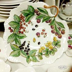 роспись по фарфору фарфор надглазурная роспись тарелка даминова флера фарфоровая…