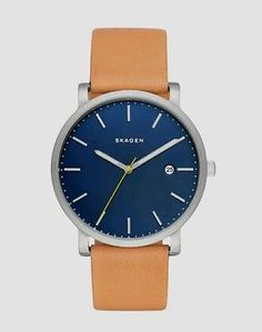 Skagen Men's Hagen Tan Leather Watch SKW6279 NWT