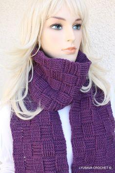 Crochet Scarf With Pocket Trendy Crochet Fashion by crochetlyubava, $75.00