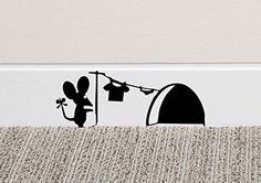 213B Mouse Hole Wall Art Sticker Washing Vinyl Decal Mice... https://www.amazon.co.uk/dp/B01B22HT6C/ref=cm_sw_r_pi_dp_x_klKfybK78YCX5