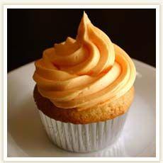 Recipe of the Week - Orange Cupcakes with Orange Frosting Cake Frosting Recipe, Frosting Recipes, Cupcake Recipes, Dessert Recipes, Icing, Cupcake Frosting, Cupcake Ideas, Buttercream Frosting, Baking Cupcakes