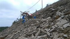 drilling machine for slope protections