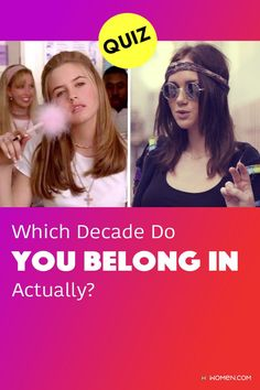 Take this personality test to see which decade you really belong in! Do you sometimes fell like you're not on a correct timeline? Find out where you really belong in time! #personalityQuiz #wecanguess #yourpersonality ##decade #timeline #yourdecade #agequiz #oldsoulquiz #yourtrueage #birthdayquiz Color Personality Test, Personality Quizzes, Old Soul, How To Find Out, Timeline, Personality Tests