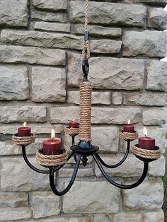 Great retro redo for outdoor ambiance under my grapevine trellis next to the patio.