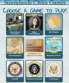 Interactive games and simulations for civics...the branches of power one is great!