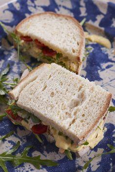 Mango-Hähnchen-Sandwich - Schnittchen Schneewittchen | tastesheriff