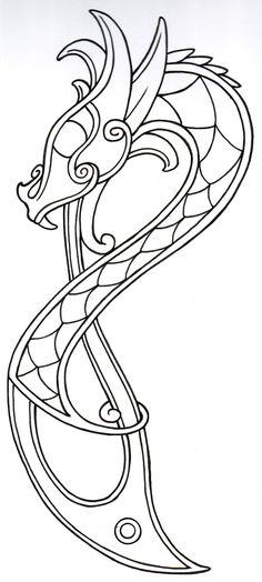 viking_dragon_outline2_by_vikingtattoo-d397xdh.jpg 990×2,200 pixels