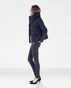 SHORT WAISTED DOWN JACKET from Zara