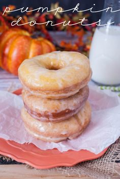 Pumpkin Nutella Donuts (the yeasty kind!) from somethingswanky.com