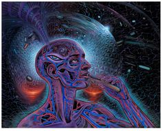 Alex Grey Psychedelic Painting Art Gallery Mars 1 LSD Bicycle Day photo