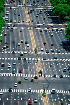 Avenida 9 de Julio (widest avenue in the world), Buenos Aires, Argentina