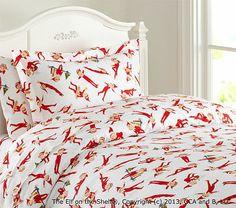 The Elf on the Shelf® Flannel Duvet Cover #pbkids Pottery Barn