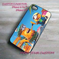 Despicable Me Minions, iPhone 4 Case, iPhone 4s Case, iPhone 5 Case, Summer Samsung Galaxy S3 i9300, Samsung Galaxy S4 i9500
