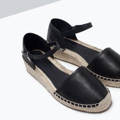 LEATHER D'ORSAY ESPADRILLE SHOES-View all-Shoes-WOMAN | ZARA United States