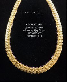 Kasulaperu Long chain collections from Om prakash Jewellers Gold Designs, Chains, Om, Jewelery, Pearl Necklace, Collections, Pearls, Happy, Jewelry