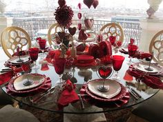 Romantic Valentine's Table Settings with Accessories and Centerpiece Ideas Valentines Day Tablescapes, Valentines Day Dinner, Valentines Day Decorations, Valentine Crafts, Valentine Ideas, Centerpieces, Table Decorations, Outdoor Decorations, Centerpiece Ideas