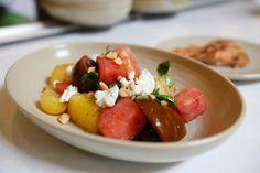 Seasonal Menu Item   Watermelon & Heirloom Tomato Salad