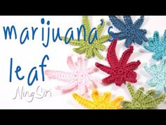 How to crochet marijuana's leaf tutorial   ถักใบกัญชา