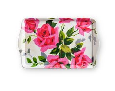 chic floral tray