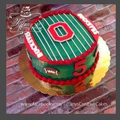 Ohio State Buckeyes Birthday Cake   Tiffany's Creative Cakes