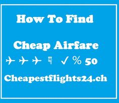 Cheap Airfare : There is no doubt that traveling is expensive. Whether you wish to travel to the next state, the next country, or all the way around the world, travel requires money. There are many things that contribute to the costs of travel, not the least of which is airfare. Airfare often makes up a large percentage of a travel budget, even more so now with the oil prices continually on the rise. It is wise for any traveler to search for the cheapest airfare possible for any air travel…