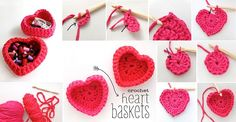 DIY Crochet Heart Shaped Storage Baskets | Home Decoration Ideas | Daily Home Decoration Ideas