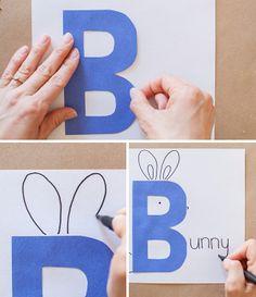 DIY Alphabet Book Baby Shower Activity