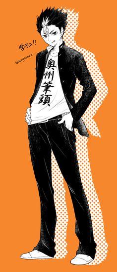 Noya Haikyuu Nishinoya, Haikyuu Fanart, Kageyama, Haikyuu Anime, Anime City, Cool Anime Guys, Tsukkiyama, Haikyuu Wallpaper, Kuroken