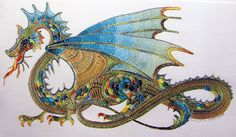 Jade Dragon hails from Roseworks Embroidery Designs in South Africa, the work of designer and embroiderer Colleen Goy